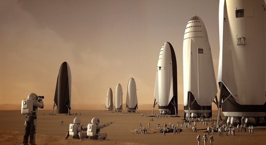 Lg fleet of spacex its spaceships on mars by sam taylor